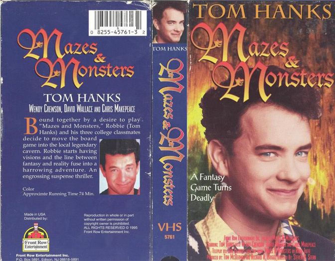 Mazes and Monsters VHS cover